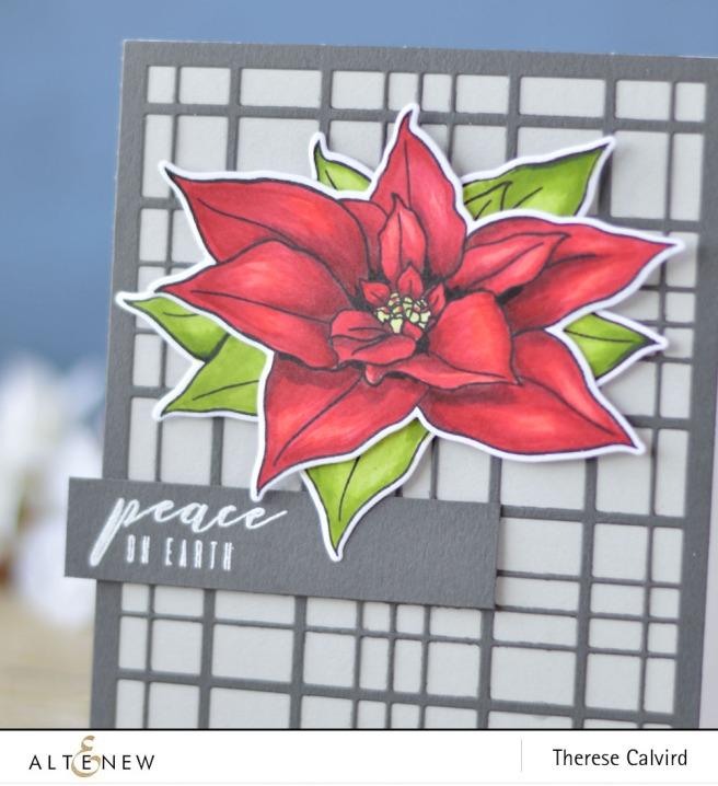 Altenew - BAF - Poinsettia - Layered Plaid Cover Die - Lostinpaper (card video) 1 copy