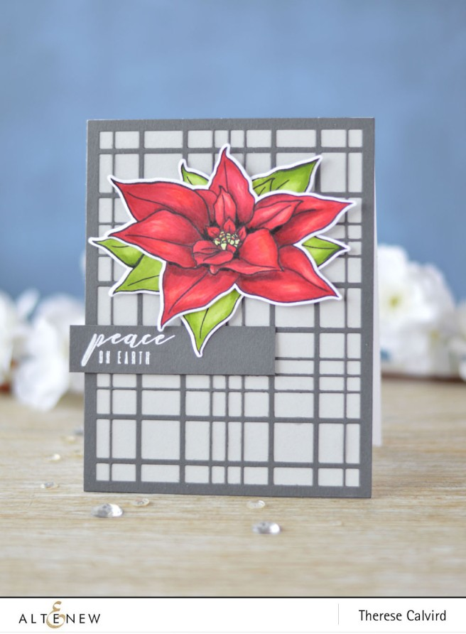 Altenew - BAF - Poinsettia - Layered Plaid Cover Die - Lostinpaper (card video) 1 copy
