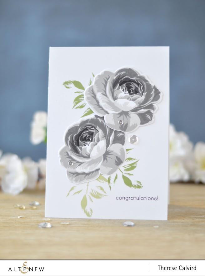 Altenew - BAF - Rose - You Make me Happy - Lostinpaper (card) 1 copy