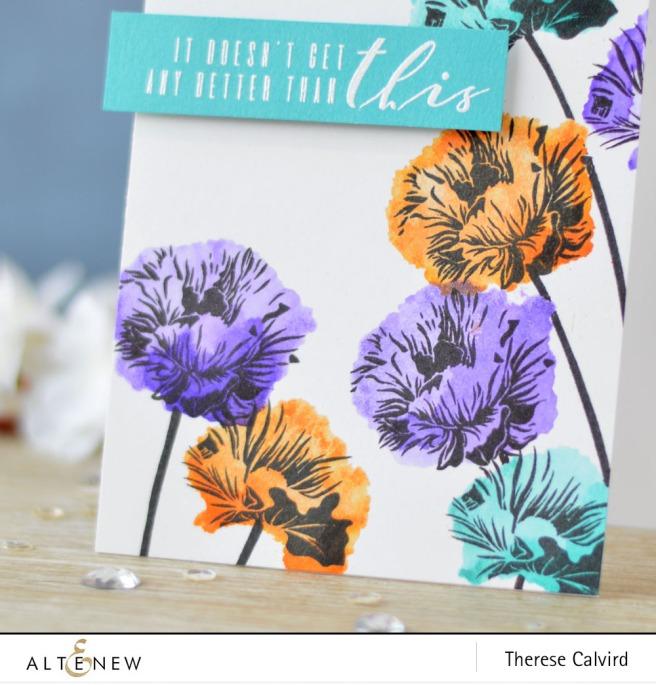 Altenew - Ellen Hutson - Poppy Fields - More than Words - Lostinpaper (card video) 1 copy