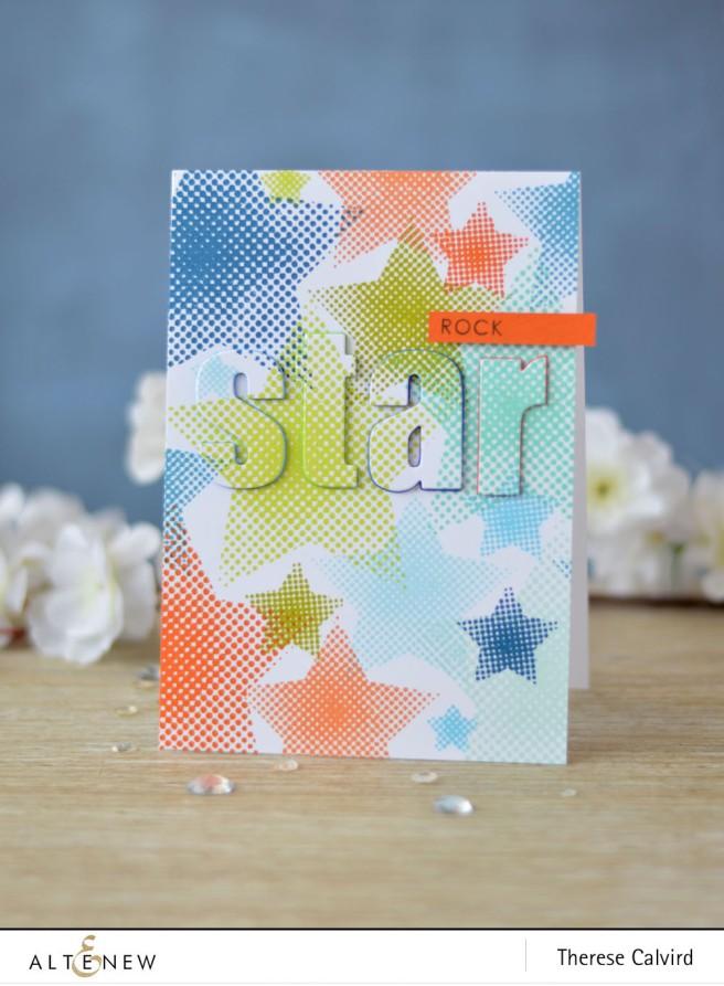 Altenew - Halftone Stars - Sentiments & Quotes - Lostinpaper (card video) 1 copy