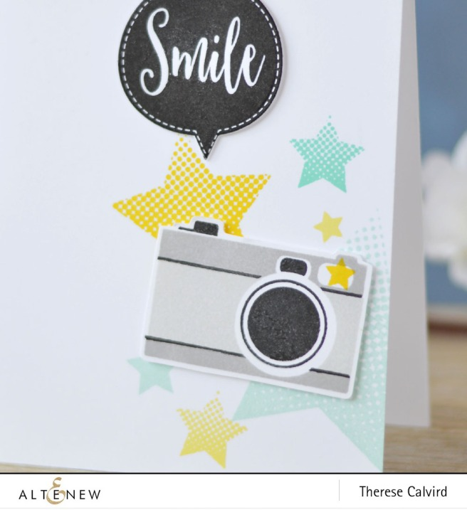 Altenew - Halftone Stars - Speech Bubbles - Say Cheese - Lostinpaper (card) 2 copy