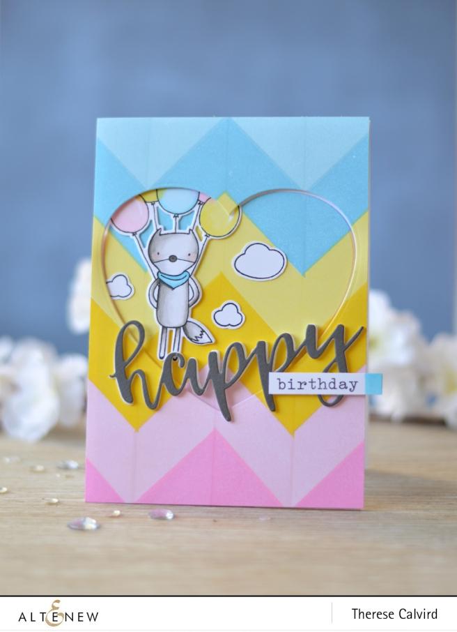 Altenew - Simple Shapes XL - Hug Me - Halftone Hearts Die - Script Words 2 - Lostinpaper (card video) 1 copy