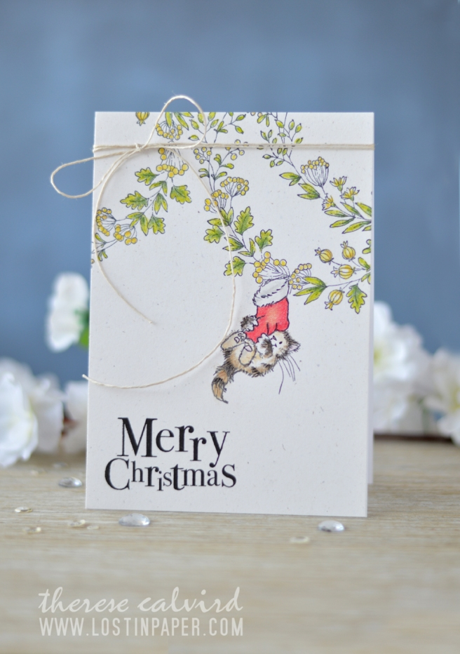 Lostinpaper - Penny Black - Berry Circle - Getting Ready - North Pole Treasures (card video) 1