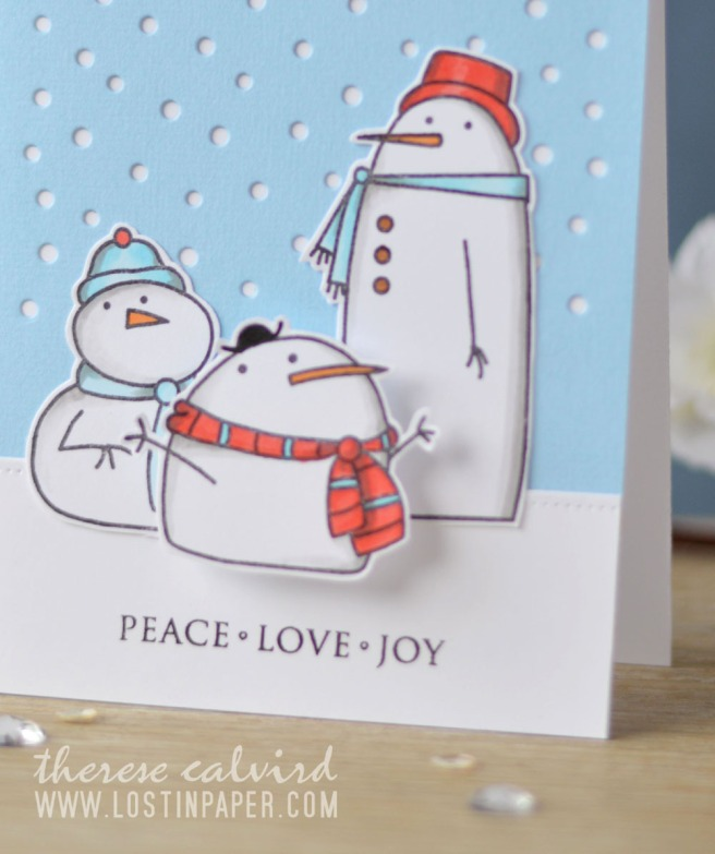 Lostinpaper - Paper Smooches - Swanky Snowdudes - MFT Snowfall Vertical (card video) 1