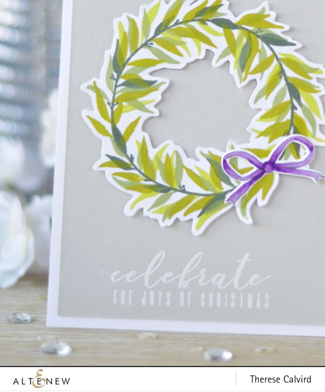 Altenew - Layered Laurel - Bells and Bows - BAF Poinsettia - Lostinpaper (card video) 1 copy