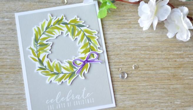 Altenew - Layered Laurel - Bells and Bows - BAF Poinsettia - Lostinpaper (card video) 1 copy