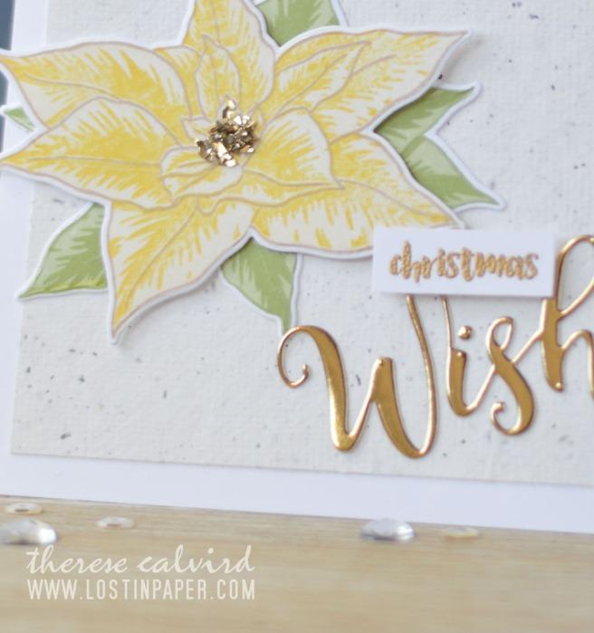 Lostinpaper - Altenew BAF Poinsettia - Holiday Script Words - Penny Black - Ornamental Branch (card video) 1