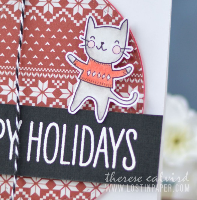 Lostinpaper - Cat Chrismtas - Poppystamps - Purrfect Holidays (card video) 1