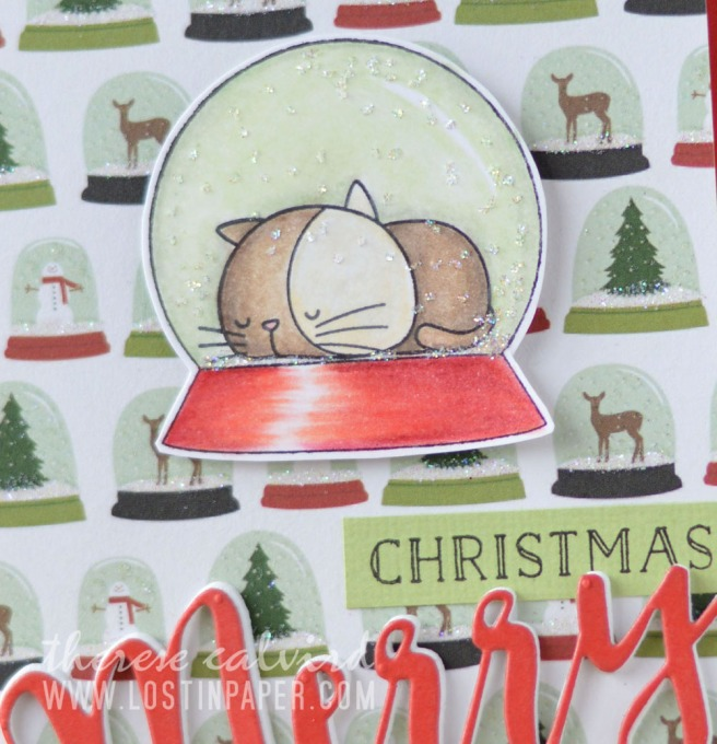 Lostinpaper - Cat Christmas - MFT - I Knead You (card video) 1