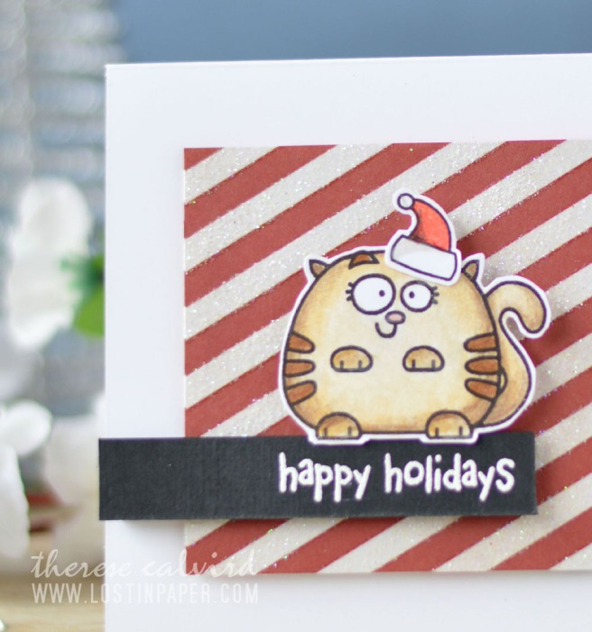Lostinpaper - Cat Christmas - Paper Smooches - Chubby Chums (card video) 1