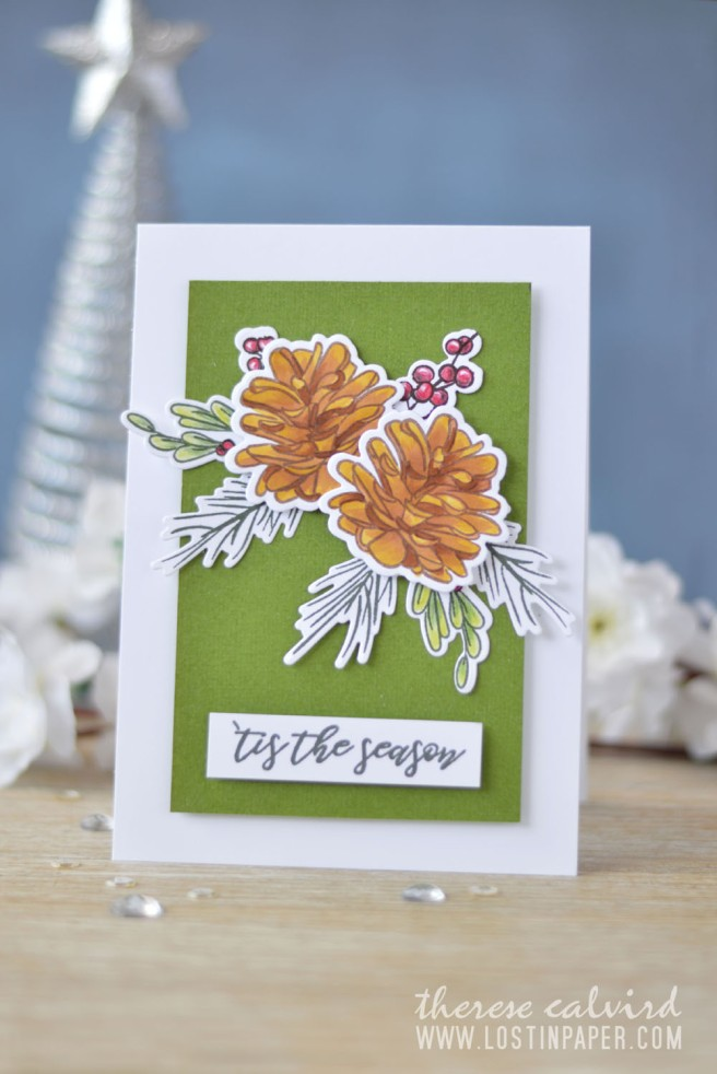 Lostinpaper - Penny Black - Natures Gifts - Altenew - Poinsettia & Pine (card video) 1