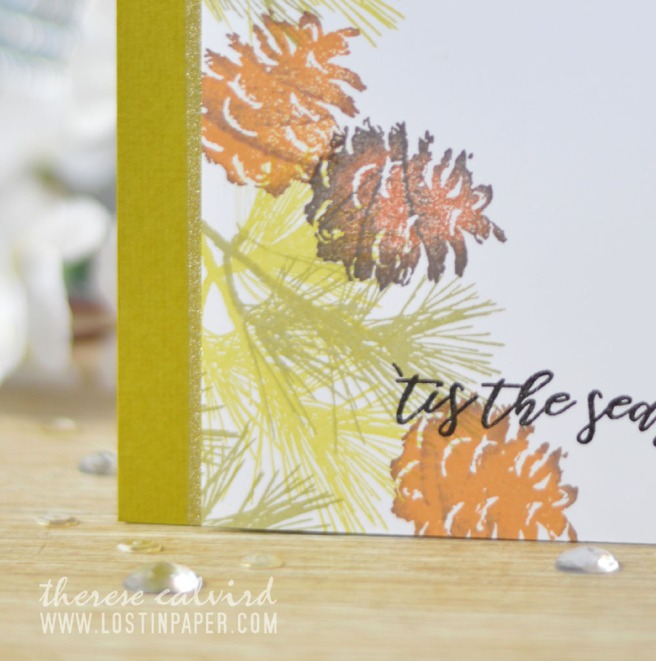 Lostinpaper - Penny Black - Natures Gifts - Altenew - Poinsettia & Pine (card video) 3