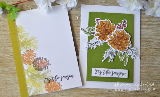 ca61f5092080 Lostinpaper - Penny Black - Natures Gifts - Altenew - Poinsettia   Pine  (card video