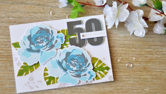 Altenew - Floral Fantasy - Bold Numerals - Parrot Paradise - Lositnpaper (card video) 1 copy