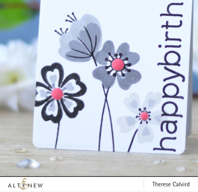 Altenew - Heart Flowers - Birthday Builder - Lostinpaper (card) 1 copy
