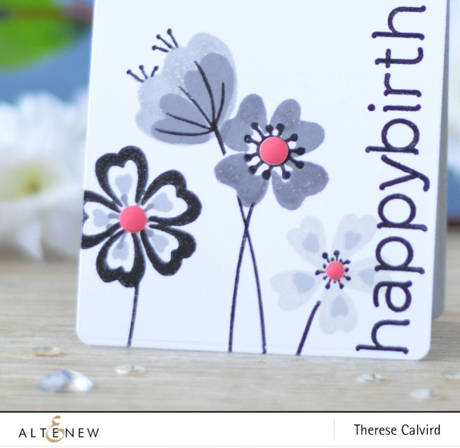 Altenew - Heart Flowers - Birthday Builder - Lostinpaper (card) 1 copy