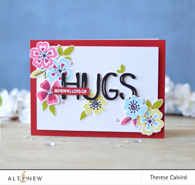 Altenew - Heart Flowers - Brush Alpha Die - Lostinpaper (card video) 1 copy