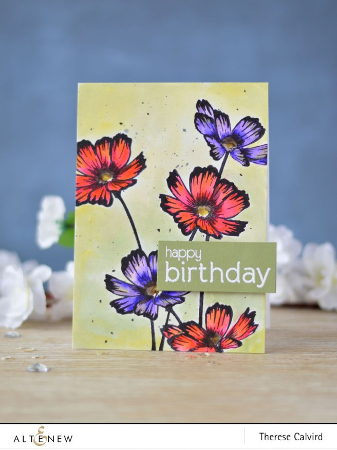 Altenew - Stunning Cosmos - Birthday Builder - Lostinpaper (card) - Copy copy