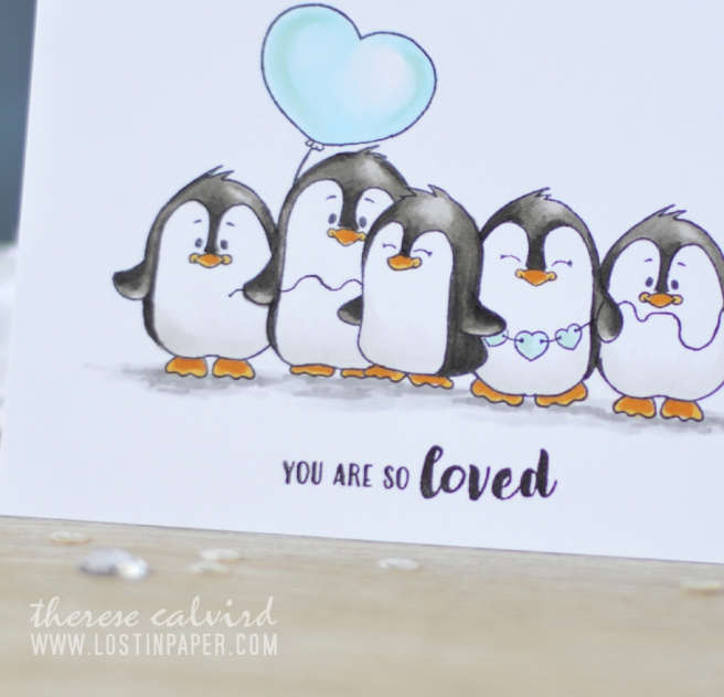 Lostinpaper - Gerda Steiner - Valentine Penguins - Copics (card video) 1