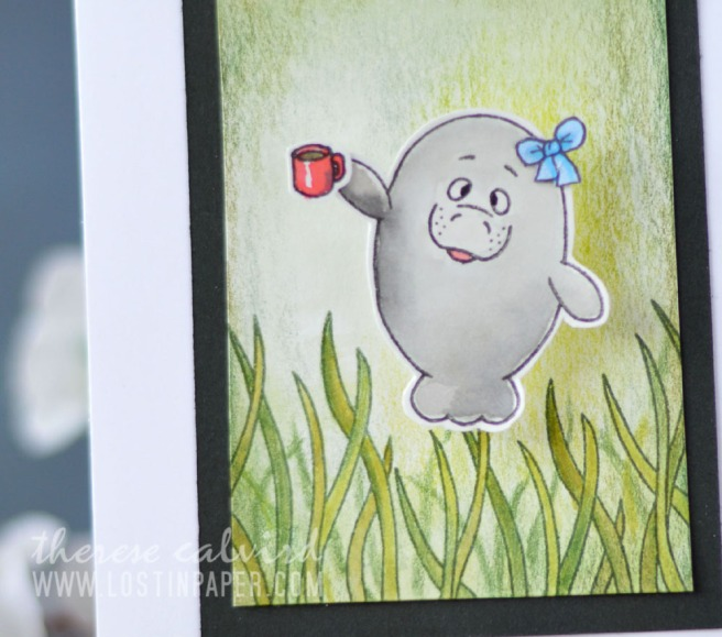 Lostinpaper - Gerda Steiner Designs - Oh Manatee - Moody Unicorns (card video) 1