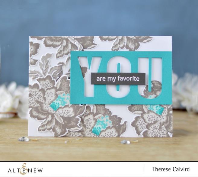 Altenew - Ornamental Flower - Caps Bold Alpha Die - Therese Calvird (card) 2 copy