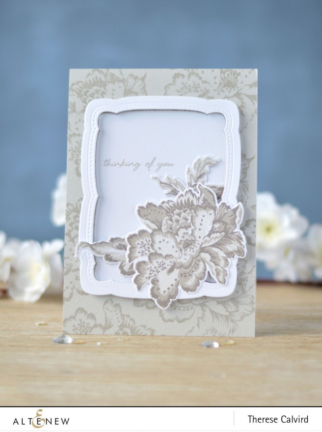 Altenew - Ornamental Flower - Our Family Frame Die - Therese Calvird (card) 1 copy