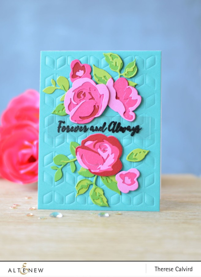 Altenew - Rose Flurries 3D Die - Cube Cover Die - Therese Calvird (card video) 2 - Copy copy