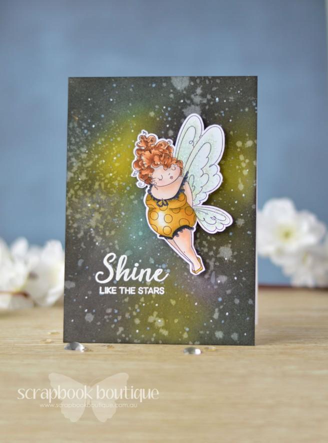 Lostinpaper - Art Impressions - Edna - Galaxy Backgroudn (card) 1