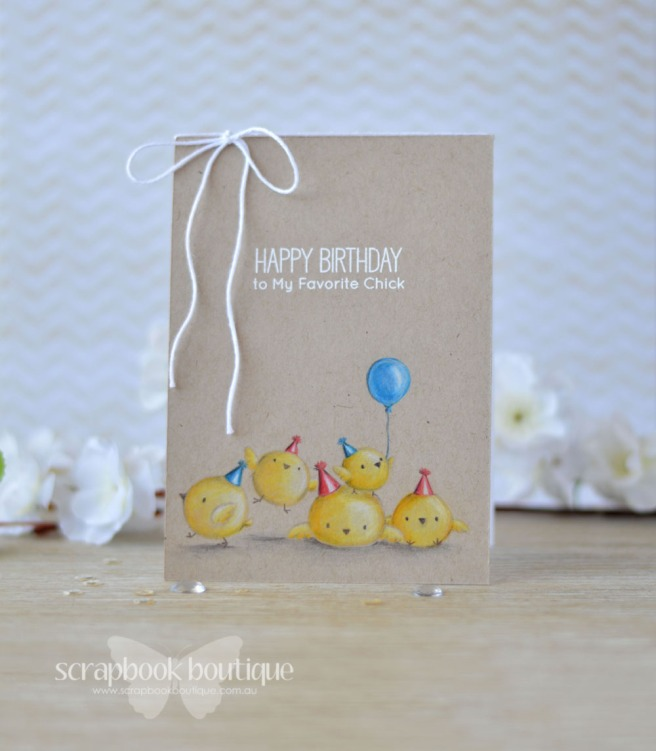 Lostinpaper - MFT - Birthday Chicks (card video) 1