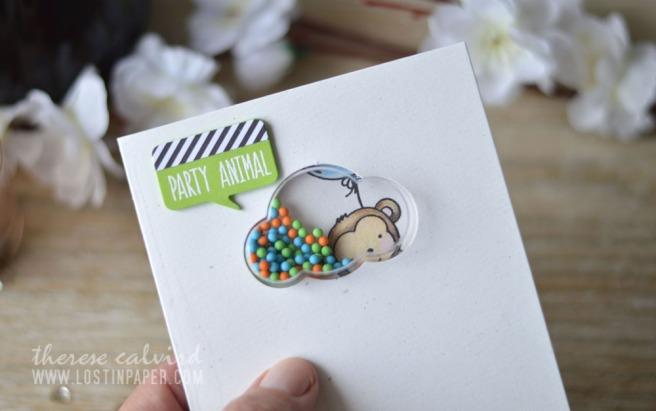 Lostinpaper - Neat & Tangled - Wild Ones - Jillibean Cloud Shaker (card video) 3