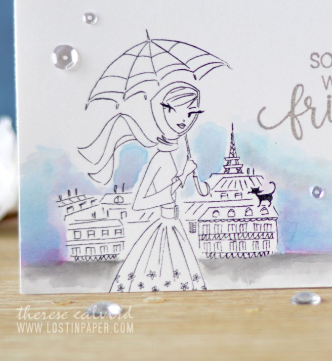 Lostinpaper - Penny Black - Parisian Stroll - Choose Happy (Gimme 5 card video) 1