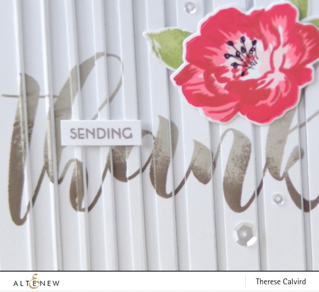Altenew - Mega Greetings - Strength Blooms - Gradient Stripes - Therese Calvird (card video) 1 copy