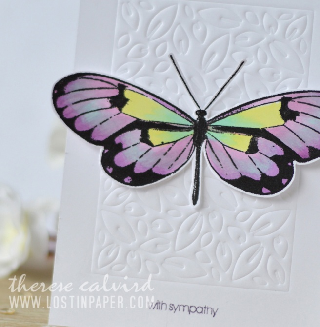 Lostinpaper - Penny Black - Leaf Pattern - Butterfly Trio - Gimme 5 (card video) 1