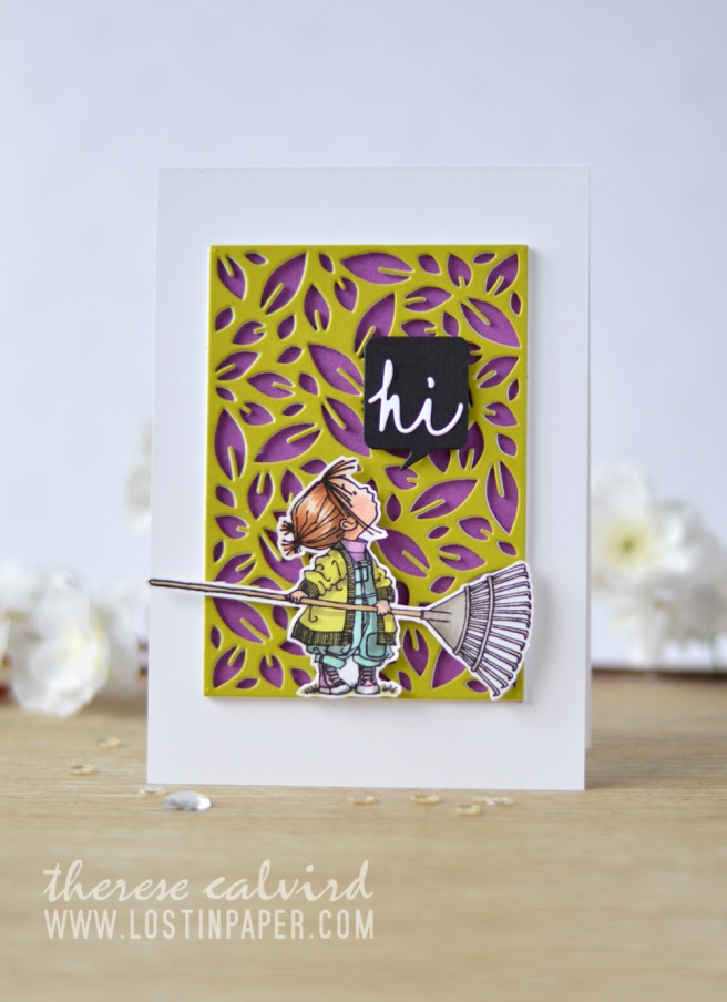Lostinpaper - Penny Black - Leaf Pattern - Hello Autumn - Gimme 5 (card video) 1