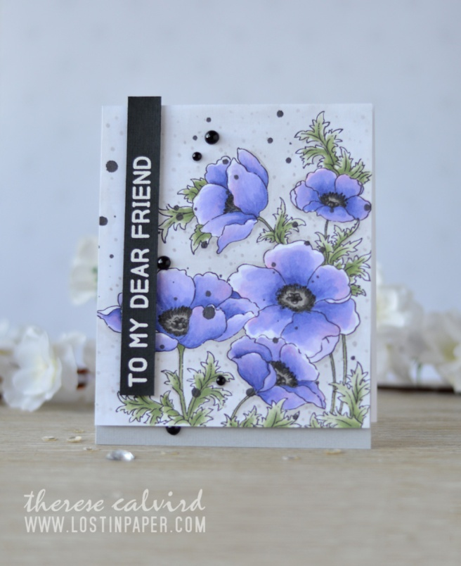 Lostinpaper - Penny Black - Poppy Gems - Altenew - Mega Greetings (card video) 1