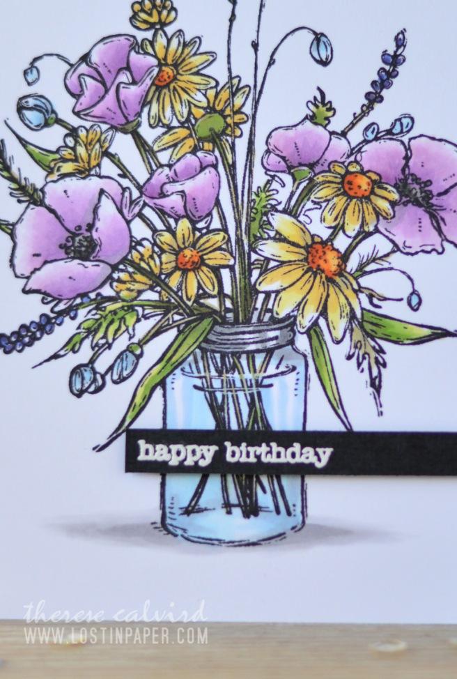 Lostinpaper - Penny Black - Vase Garden - Copics (card video) 2