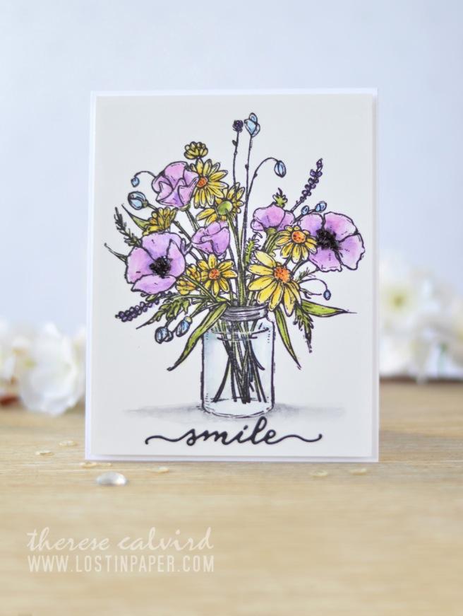 Lostinpaper - Penny Black - Vase Garden - Inktense (card video) 2