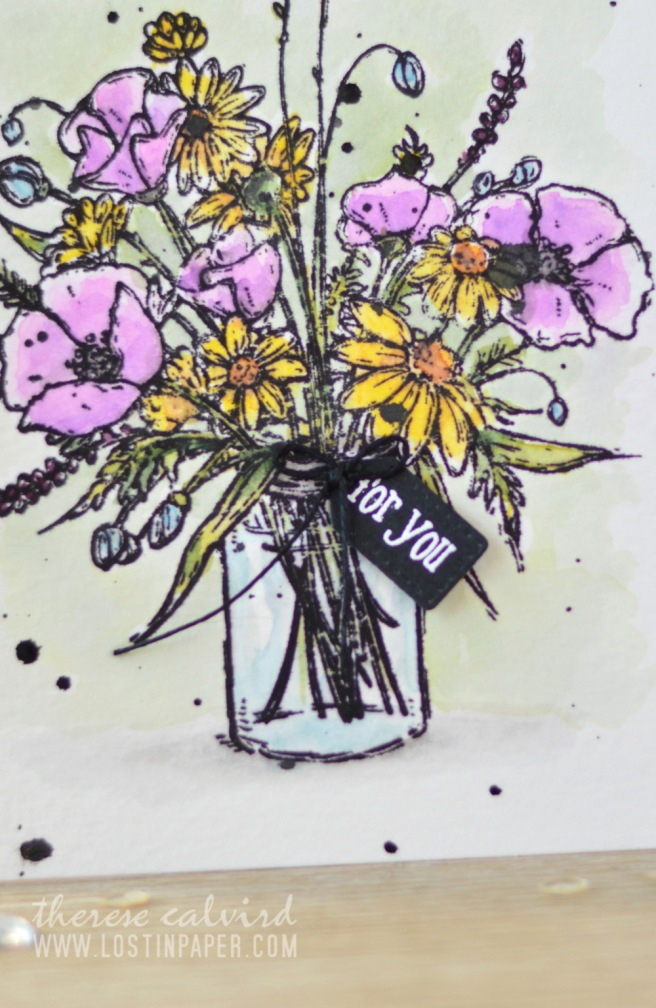 Lostinpaper - Penny Black - Vase Garden - Watercolours (card video) 2