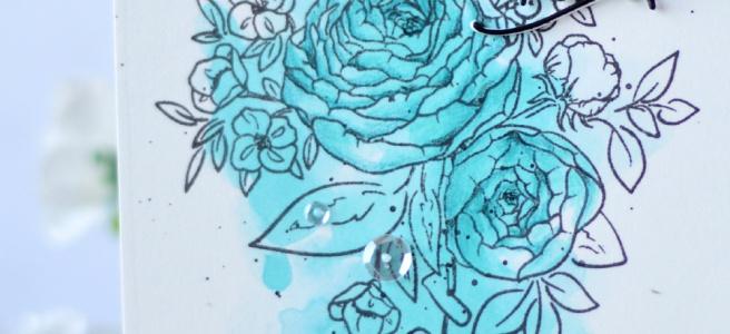 Lostinpaper - WPlus9 - Ranunculus - Altenew - Signature Word (card video) 1