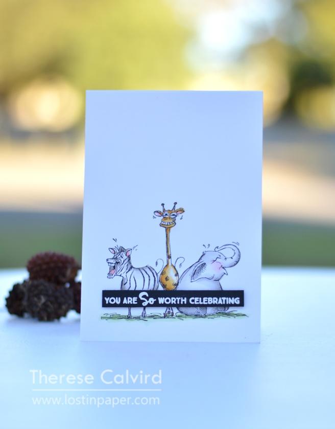 Lostinpaper - Paper Rose - Laughing Animals - MFT (card) 1