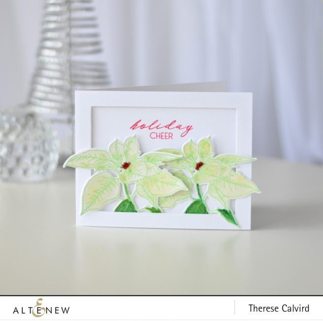 Altenew - Festive Poinsettia - Starry Night - Therese Calvird (card video) 1 copy