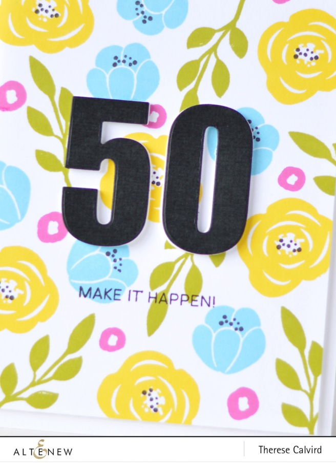 Altenew - Floral Elements - Happy Dreams - Bold Numerals - Therese Calvird (card video) 1 copy
