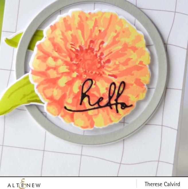 Altenew - BAF Flourishing Zinnia - Create a Wreath- Therese Calvird (card video) 1 copy