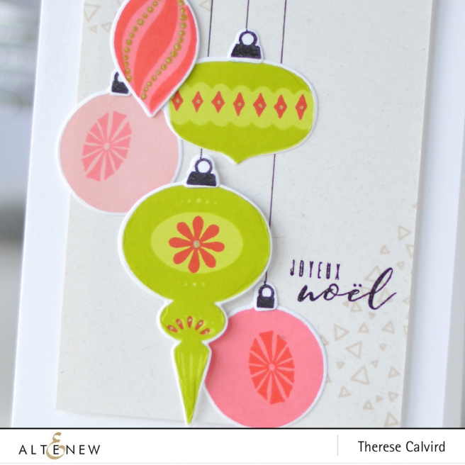 Altenew - Brilliant Baubles - Peace On Earth - Tiny Triangles -Therese Calvird (card) 1 copy