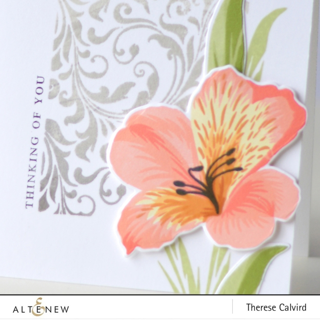 Altenew - Peruvian Lily - Block Print -Therese Calvird (card video) 2 copy