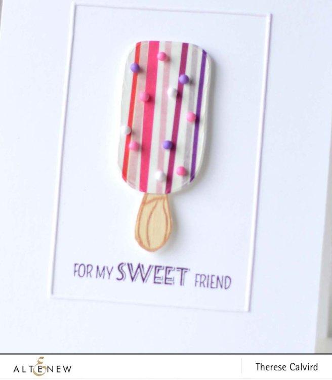 Altenew - Rainbow Washi - Summer Swirls - Layered Cupcake - Therese Calvird 1 copy