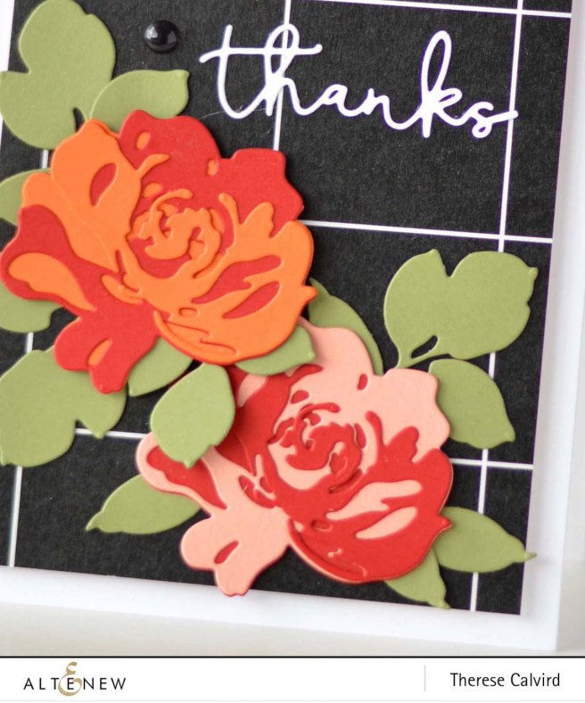 Altenew - Tuxedo Washi - Floral Fantasy Die - Signature Words - Therese Calvird (card video) 1 copy