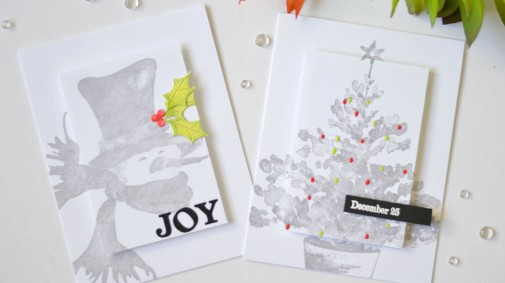 Lostinpaper - Penny Black Gimme 5 - CAS Christmas Highlight Cards (card video) (2) - Copy