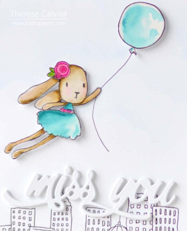 Lostinpaper - Uniquely Creative - Whimsy Bunnies - Concord & 9th - Altenew (card video) 1